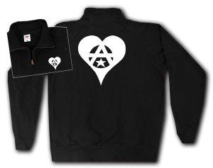 Sweat-Jacket: Anarchie Herz