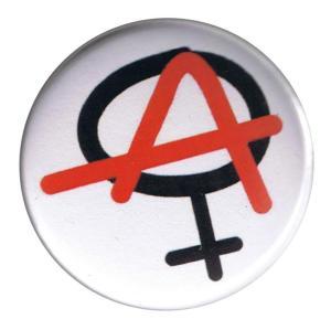 37mm Magnet-Button: Anarchie ist weiblich