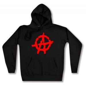 taillierter Kapuzen-Pullover: Anarchie (rot)