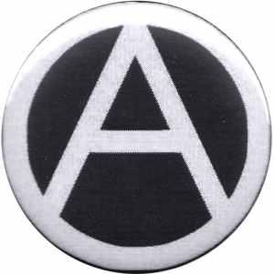 37mm Magnet-Button: Anarchie (schwarz)