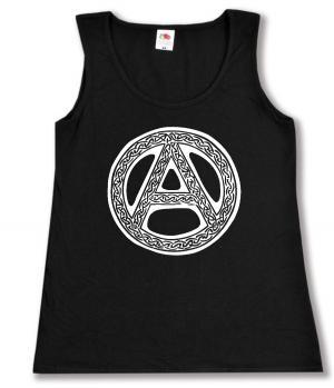 tailliertes Tanktop: Anarchie - Tribal