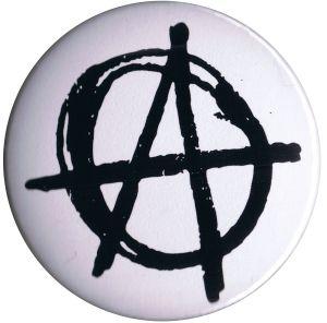 25mm Magnet-Button: Anarchie (weiß)