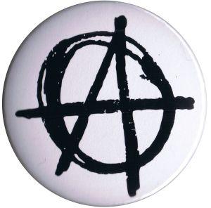 37mm Magnet-Button: Anarchie (weiß)