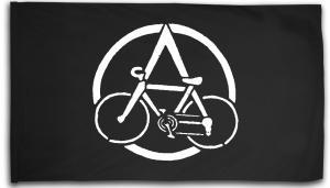 Fahne / Flagge (ca. 150x100cm): Anarchocyclist