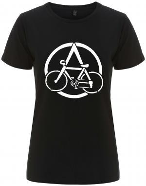 tailliertes Fairtrade T-Shirt: Anarchocyclist