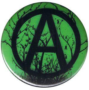 37mm Magnet-Button: Anarchogrün