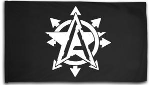Fahne / Flagge (ca 150x100cm): Anarchy Star