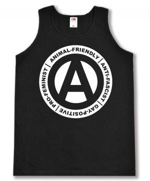 Tanktop: Animal-Friendly - Anti-Fascist - Gay Positive - Pro Feminist