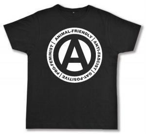 Fairtrade T-Shirt: Animal-Friendly - Anti-Fascist - Gay Positive - Pro Feminist