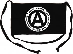 Mundmaske: Animal-Friendly - Anti-Fascist - Gay Positive - Pro Feminist