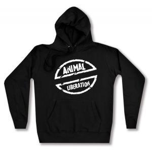 taillierter Kapuzen-Pullover: Animal Liberation