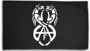 Fahne / Flagge (ca. 150x100cm): Animal Liberation Front (ALF) Horses
