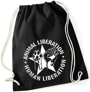 Sportbeutel: Animal Liberation - Human Liberation (mit Stern)