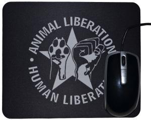 Mousepad: Animal Liberation - Human Liberation (mit Stern)