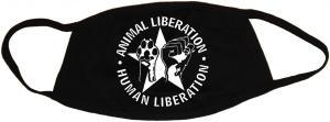 Mundmaske: Animal Liberation - Human Liberation (mit Stern)