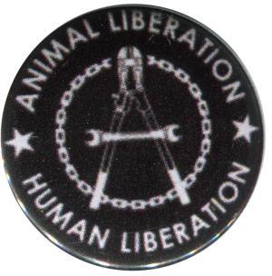 25mm Button: Animal Liberation - Human Liberation (Zange)