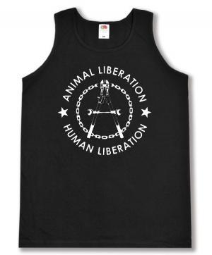 Tanktop: Animal Liberation - Human Liberation (Zange)