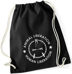 Sportbeutel: Animal Liberation - Human Liberation (Zange)
