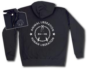 Kapuzen-Jacke: Animal Liberation - Human Liberation (Zange)