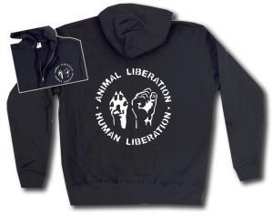Kapuzen-Jacke: Animal Liberation - Human Liberation