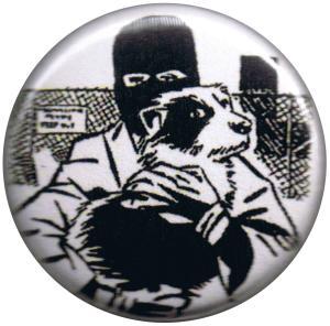 25mm Magnet-Button: Animal Liberation (Hund)