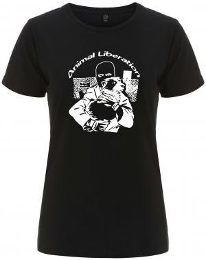 tailliertes Fairtrade T-Shirt: Animal Liberation (Hund)