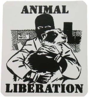 Aufkleber: Animal Liberation (Hund)