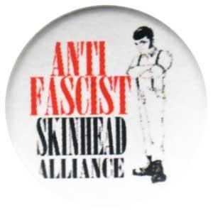 25mm Button: Anti Fascist Skinhead Alliance