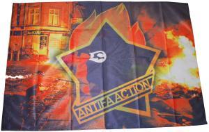 Fahne / Flagge (ca. 150x100cm): Antifa Action