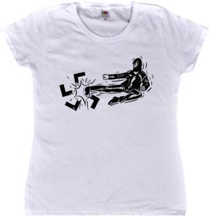 tailliertes T-Shirt: Antifa / Autonom