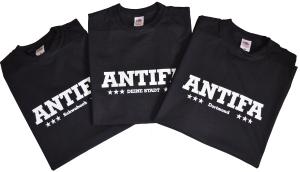 T-Shirt: Antifa Deine Stadt