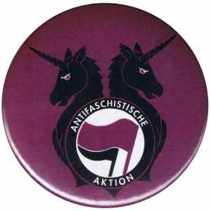 25mm Magnet-Button: Antifa Einhorn Brigade