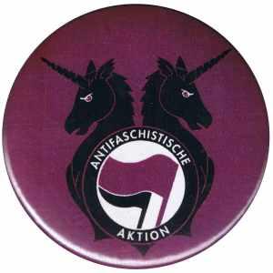 37mm Button: Antifa Einhorn Brigade