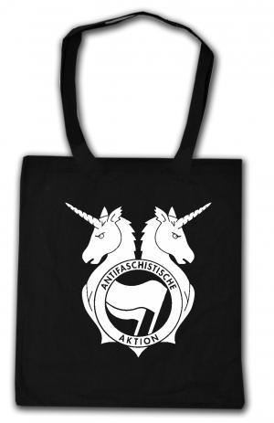 Baumwoll-Tragetasche: Antifa Einhorn Brigade