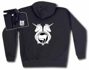 Kapuzen-Jacke: Antifa Einhorn Brigade