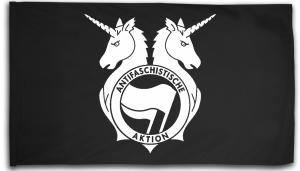 Fahne / Flagge (ca. 150x100cm): Antifa Einhorn Brigade
