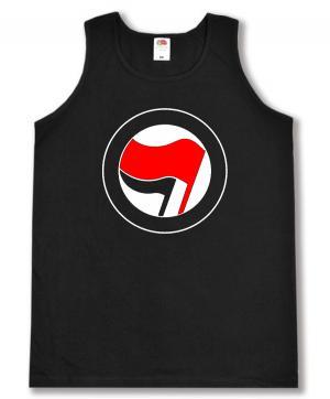 Tanktop: Antifa Logo (rot/schwarz, ohne Schrift)
