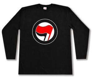 Longsleeve: Antifa Logo (rot/schwarz, ohne Schrift)