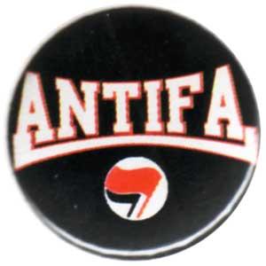 25mm Button: Antifa (rot/schwarz)
