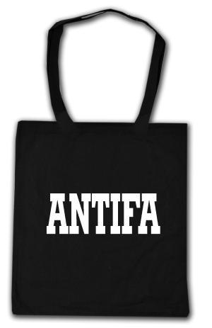 Baumwoll-Tragetasche: Antifa Schriftzug