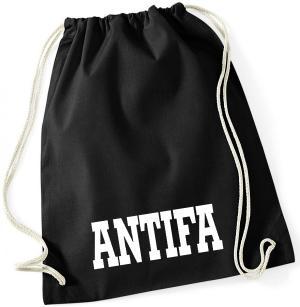 Sportbeutel: Antifa Schriftzug