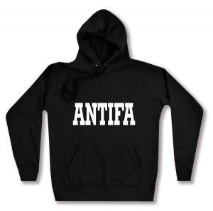 taillierter Kapuzen-Pullover: Antifa Schriftzug
