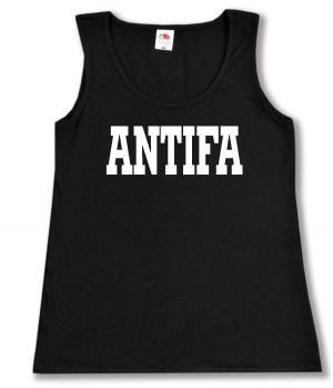 tailliertes Tanktop: Antifa Schriftzug