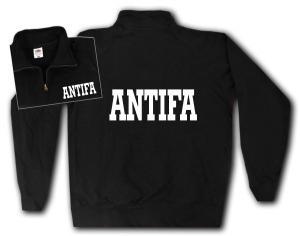 Sweat-Jacket: Antifa Schriftzug
