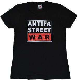 tailliertes T-Shirt: Antifa Street War