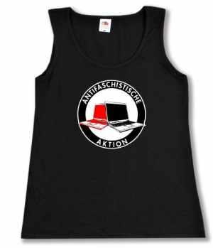tailliertes Tanktop: Antifa Zeckenbiss Laptops