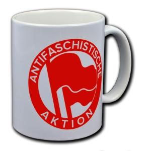 Tasse: Antifaschistische Aktion (1932, rot/rot)