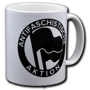 Tasse: Antifaschistische Aktion (1932) schwarz/schwarz