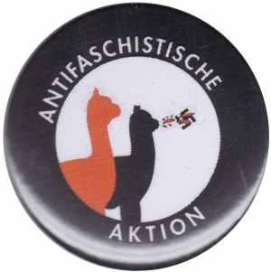 37mm Magnet-Button: Antifaschistische Aktion (Alpakas)