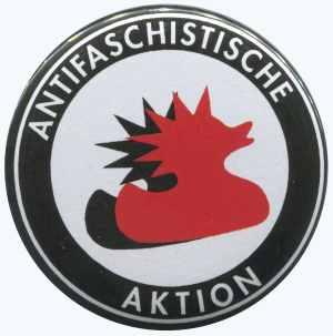 25mm Button: Antifaschistische Aktion (Enten)